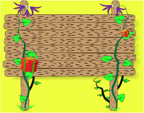 Segno di legno Fotografia Stock