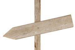 Segno di legno approssimativo sull'alberino Immagine Stock Libera da Diritti