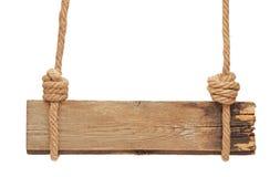 Segno di legno in bianco Fotografia Stock Libera da Diritti