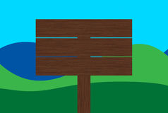 Segno di legno in bianco Fotografie Stock Libere da Diritti