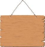 Segno di legno in bianco d'attaccatura Fotografia Stock