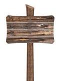 Segno di legno in bianco dai bordi Fotografia Stock Libera da Diritti