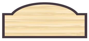 Segno di legno in bianco del deposito su fondo bianco illustrazione vettoriale