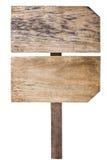 Segno di legno d'annata Fotografia Stock