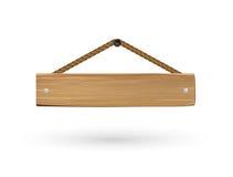 Segno di legno d'attaccatura del bordo su un fondo bianco royalty illustrazione gratis