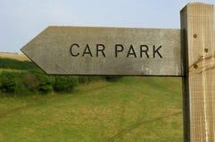 Segno di legno del parcheggio Immagine Stock