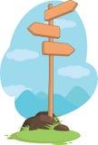 Segno di legno dell'indicatore stradale della montagna Immagine Stock Libera da Diritti