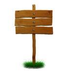 Segno di legno di indice analitico Fotografia Stock Libera da Diritti