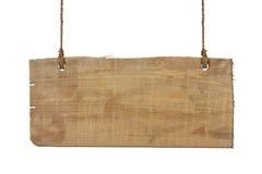 Segno di legno isolato fotografie stock