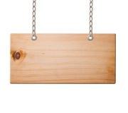 Segno di legno isolato, fotografie stock