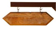 Segno di legno isolato Fotografia Stock Libera da Diritti