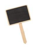 Segno di legno isolato su bianco Fotografia Stock Libera da Diritti