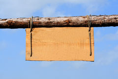Segno di legno naturale immagini stock libere da diritti