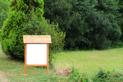 Segno di legno vuoto Fotografia Stock Libera da Diritti