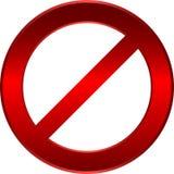 Segno di limitazione Fotografia Stock Libera da Diritti