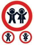 Segno di limitazione dei bambini Fotografie Stock Libere da Diritti