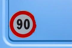 Segno 90 di limite Immagini Stock Libere da Diritti