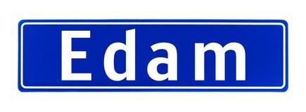Segno di limite di città di edam, Paesi Bassi immagini stock
