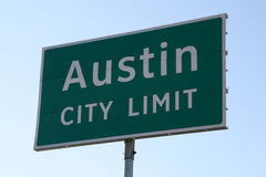 Segno di limite di città di Austin Fotografia Stock Libera da Diritti