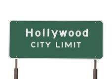 Segno di limite di città di Hollywood Immagine Stock Libera da Diritti