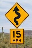 Segno di limite di velocità Fotografia Stock Libera da Diritti