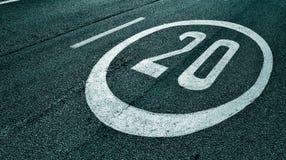 Segno di limite di velocità Immagini Stock Libere da Diritti