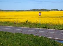 Segno di limite di velocità Fotografia Stock