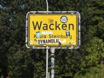 Segno di limiti di città di Wacken Fotografia Stock Libera da Diritti