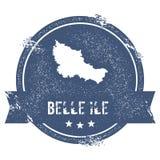 Segno di logo di Belle Ile Fotografia Stock