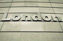 Segno di Londra Fotografia Stock
