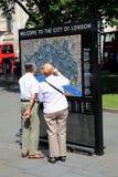 Segno di Londra Fotografie Stock