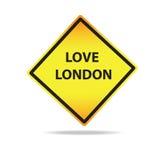Segno di Londra di amore di vettore Immagine Stock