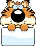Segno di Lynx del fumetto Fotografie Stock