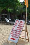 Segno di massaggio sulla spiaggia Immagini Stock Libere da Diritti