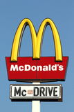 Segno di McDonalds Immagine Stock Libera da Diritti