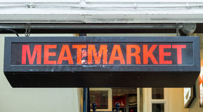 Segno di Meatmarket Fotografie Stock