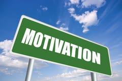 Segno di motivazione Fotografia Stock