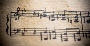 Segno di musica classica dell'annata Immagini Stock