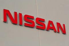 Segno di Nissan Fotografie Stock Libere da Diritti