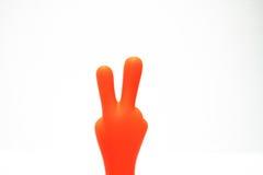 Segno di pace arancione Fotografia Stock Libera da Diritti