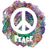 Segno di pace decorativo Fotografia Stock