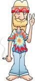 Segno di pace del Hippie illustrazione di stock