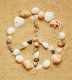 Segno di pace del Seashell fotografia stock