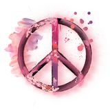 Segno di pace dell'acquerello Immagine Stock Libera da Diritti