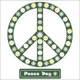Segno di pace floreale Fotografie Stock