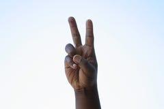Segno di pace nero Fotografia Stock