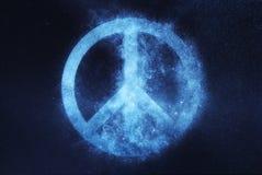 Segno di pace, simbolo di pace Fondo astratto del cielo notturno Immagini Stock