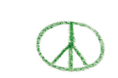 Segno di pace verde fotografie stock libere da diritti