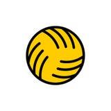 Segno di pallanuoto della palla Palla per il gioco sull'icona dei giochi dell'acqua illustrazione di stock