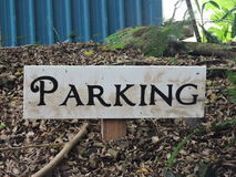 Segno di parcheggio Fotografie Stock Libere da Diritti